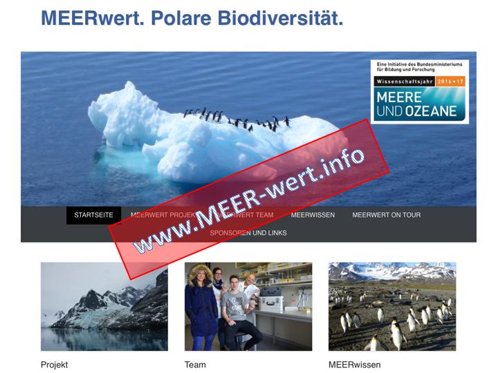 Kleiner Ausblick auf die Webseite des MEERwert Projekts.