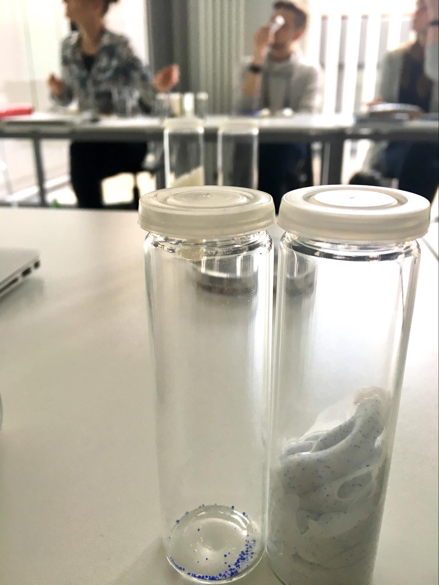 Proben von Mikroplastik