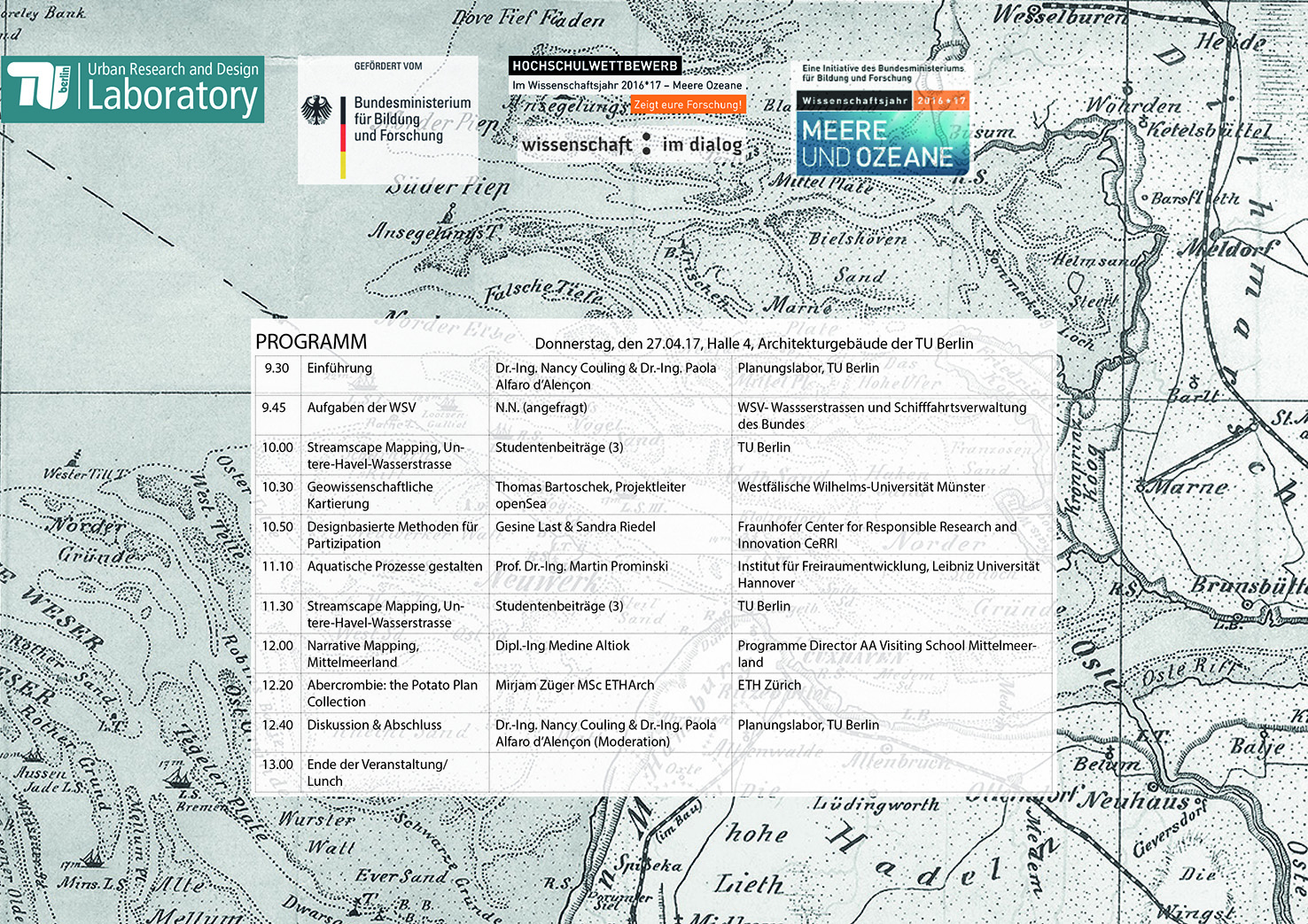 Am 27.04. fand das interdisziplinäre Learning Dialogue im Architekturgebäude der TU Berlin statt.