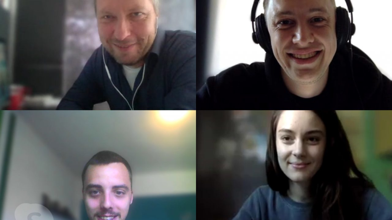 Die befootec-Redaktion samt Studienleiter beim Kick-Off-Online-Meeting