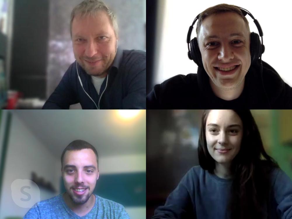 Die befootec-Redaktion samt Studienleiter beim Kick-Off-Online-Meeting